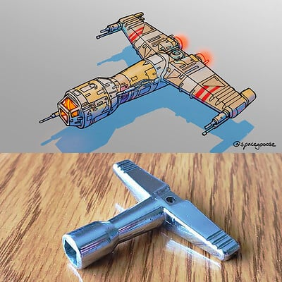 Space gooose drumkey ship 2 comp sm