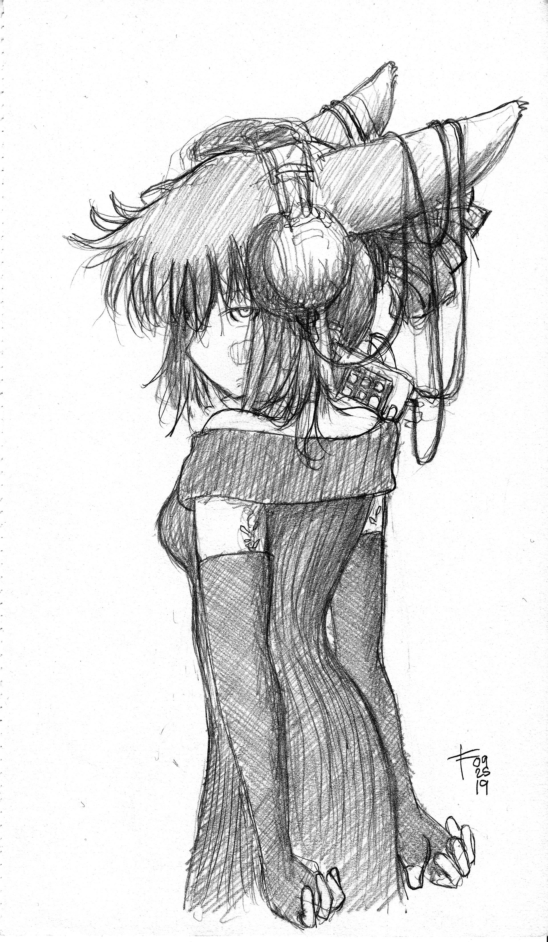 Pencil in Canson sketchbook - initial sketch