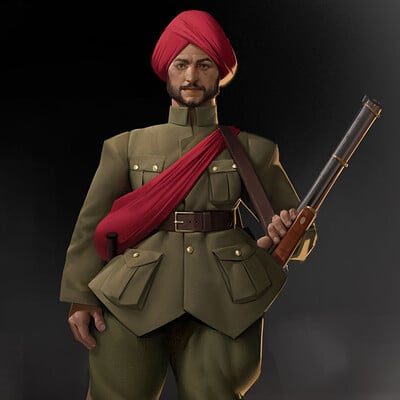 French and indian 20th century infantry