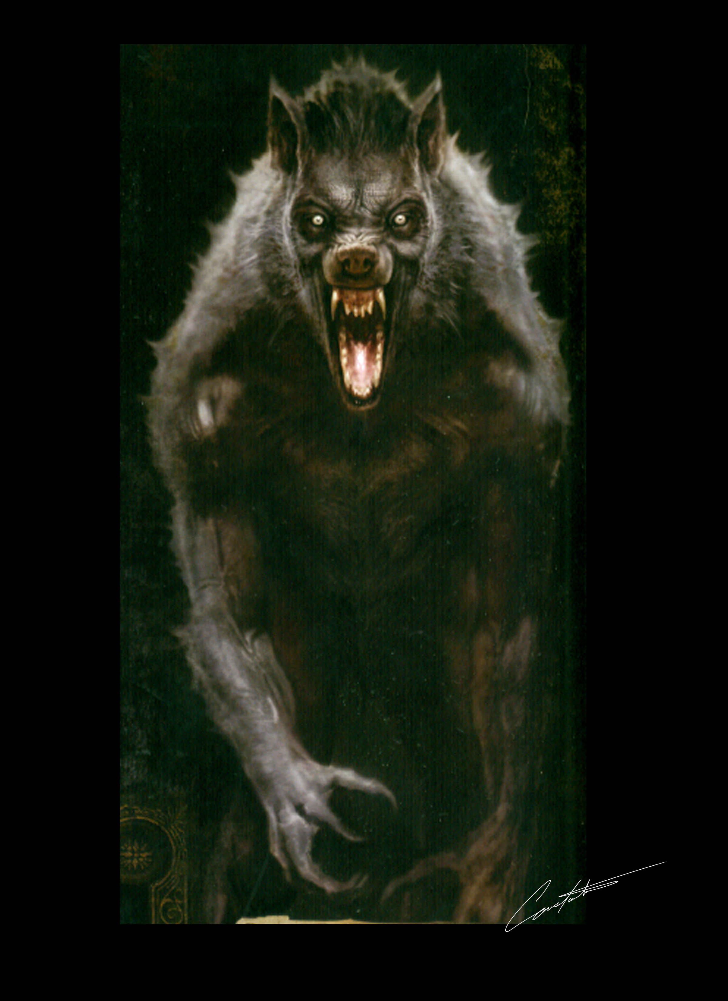 Cabin in the woods werewolf design