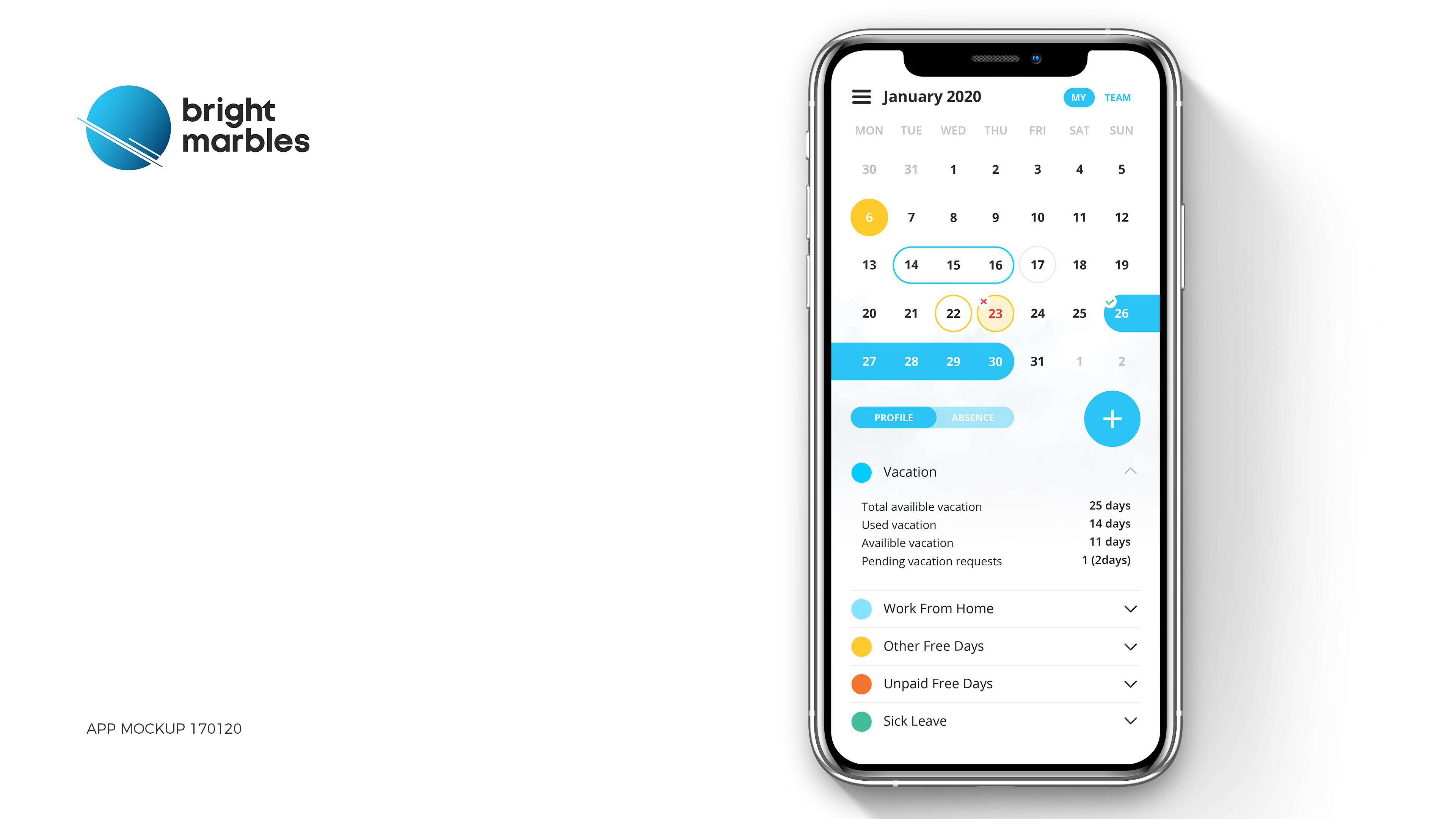 BM - Vacation App - My Calendar