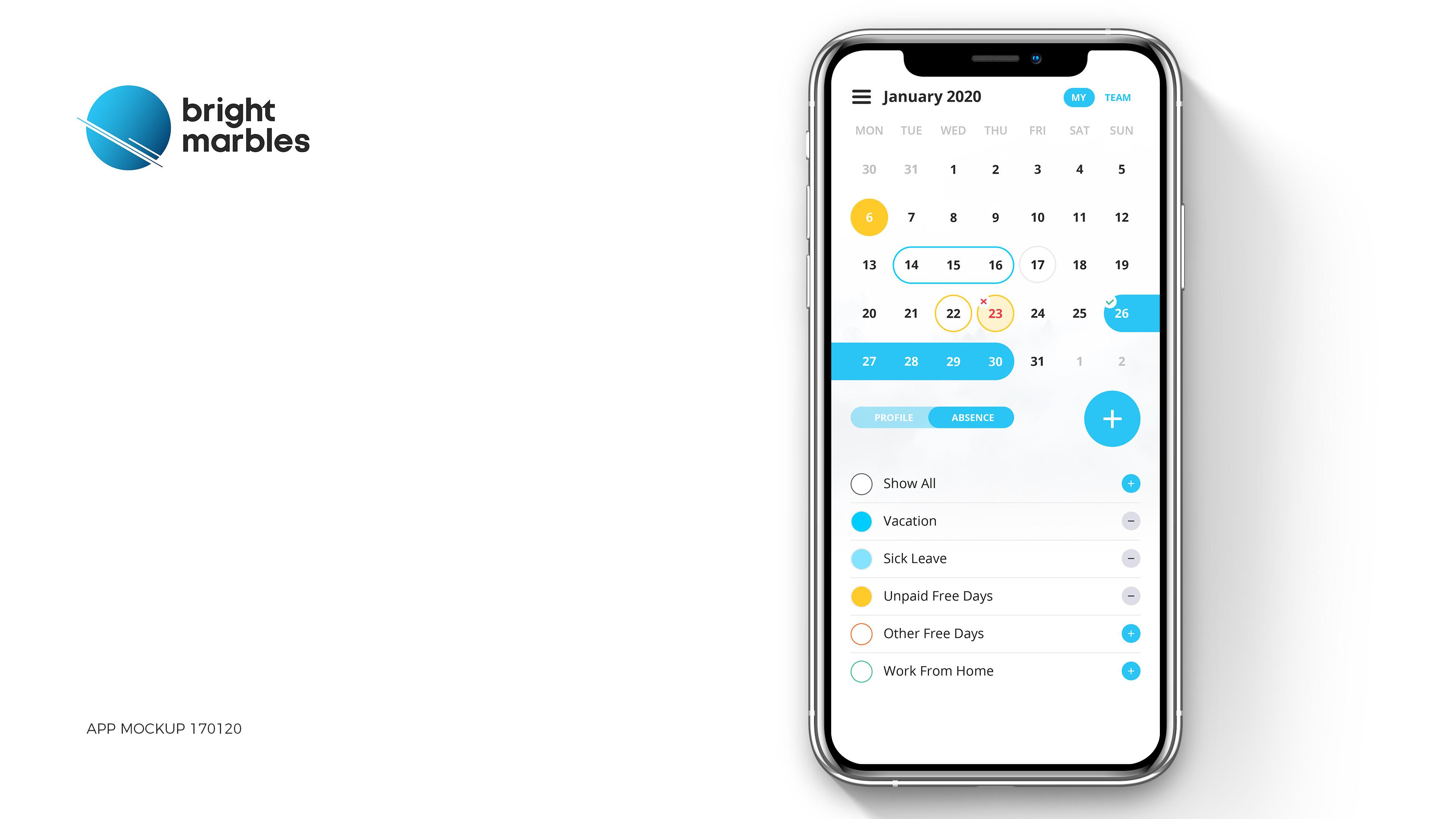 BM - Vacation App - My Calendar 2