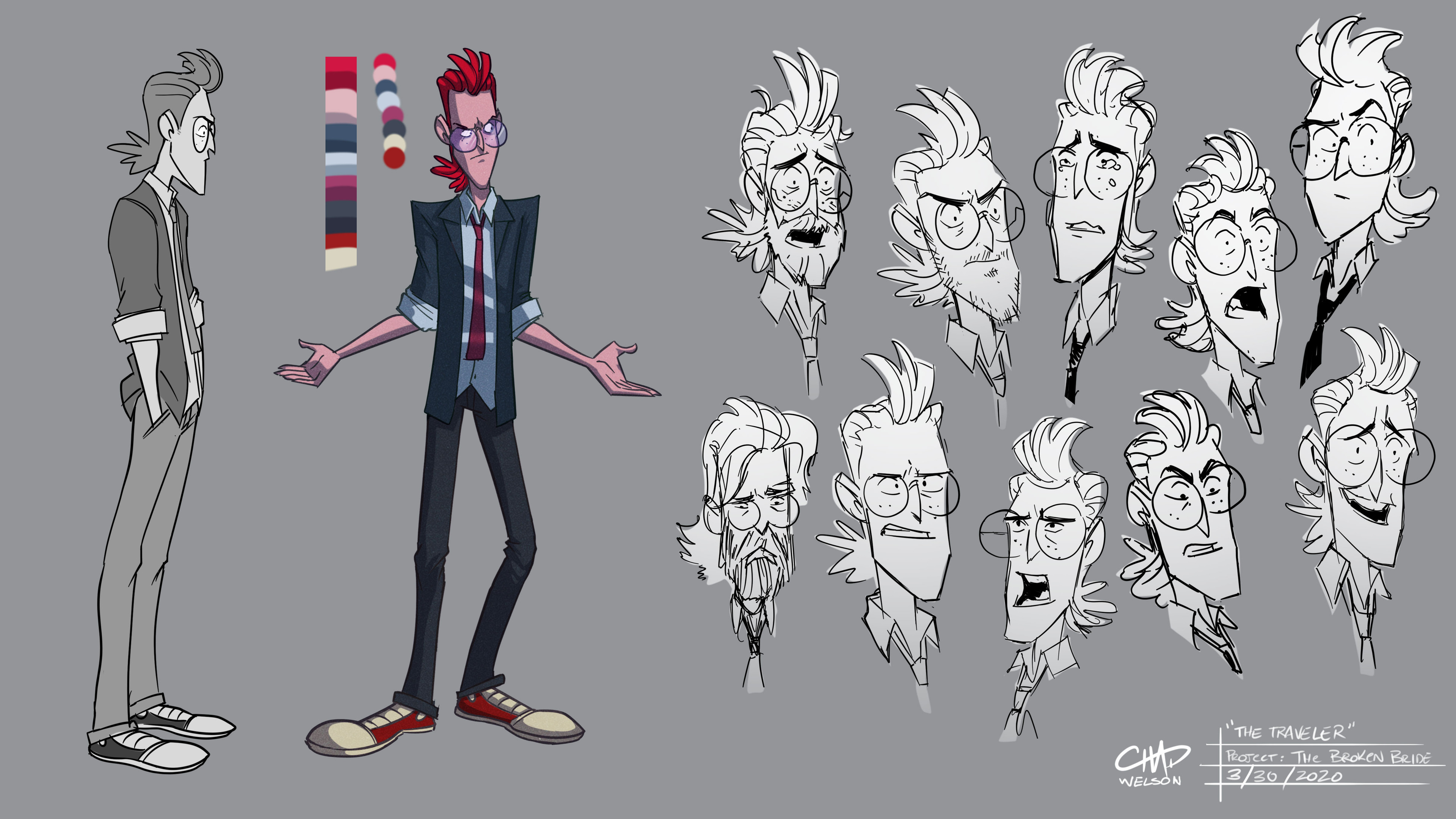 """The Traveler,"" final character design"