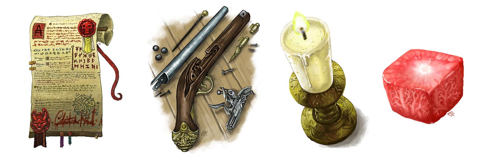 Various Spot Illustrations