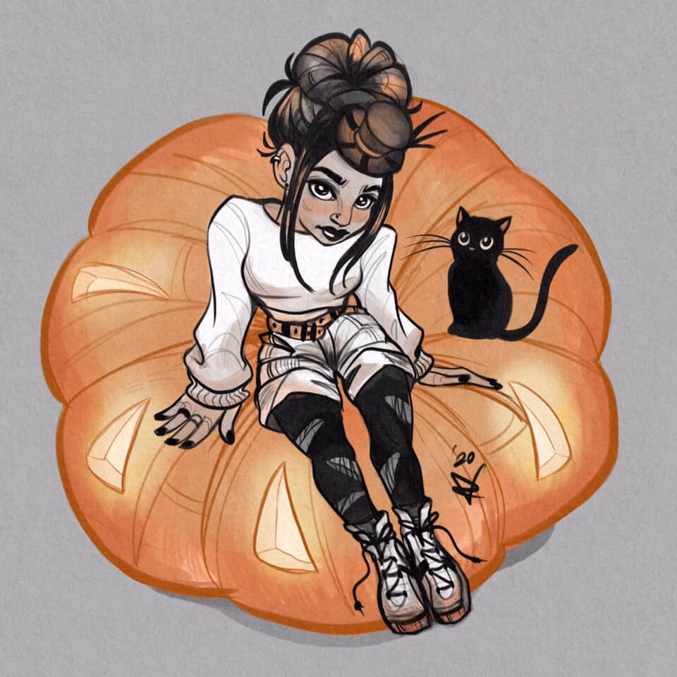 Pumpkin Girl | Witchtober 2020