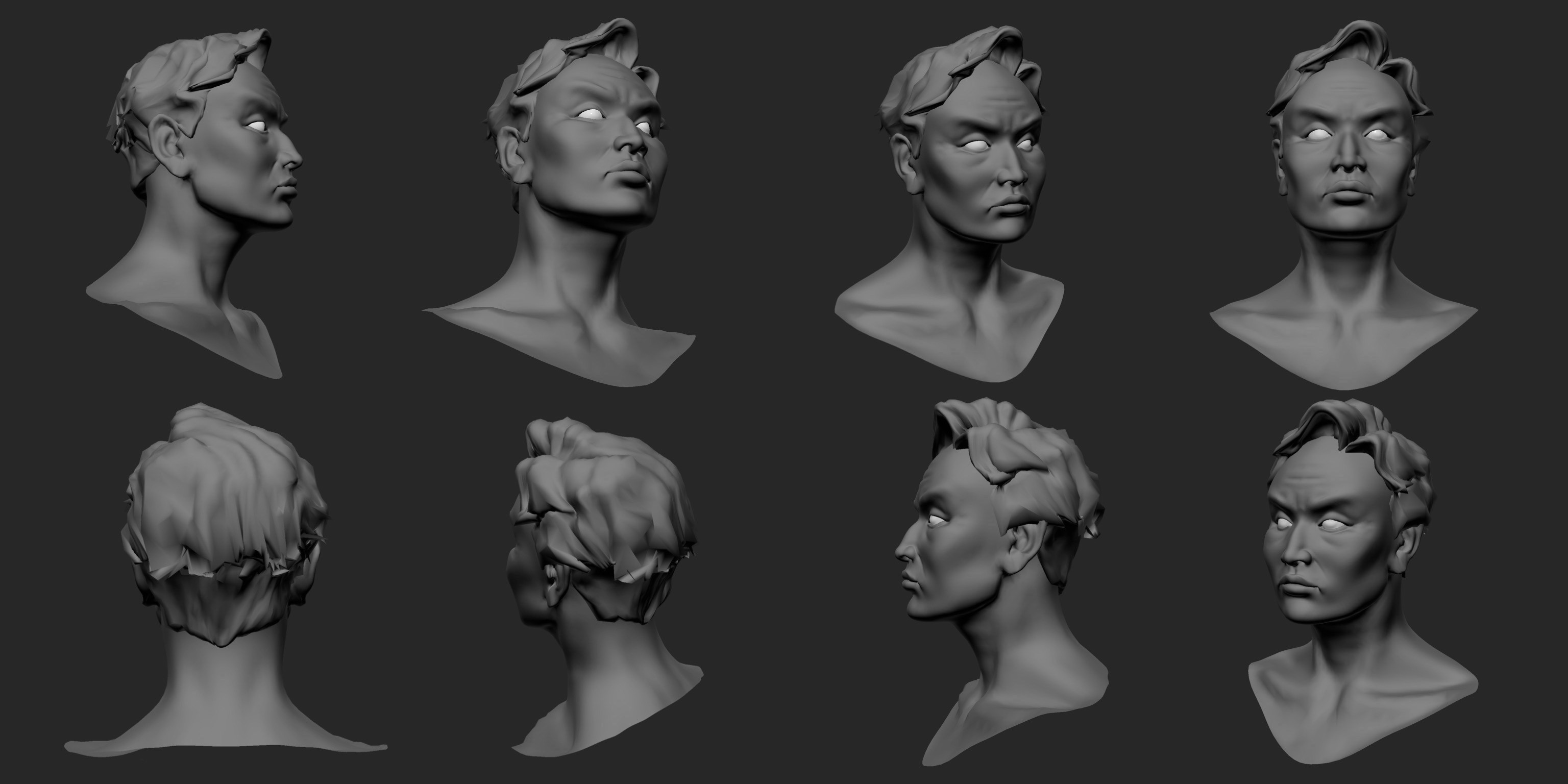 Various angles of the finished bust!