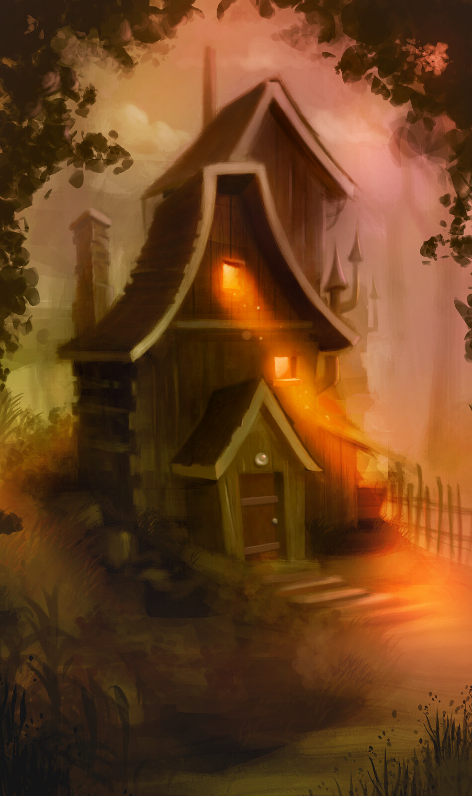 Witch house speed paint