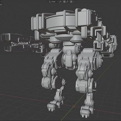 Min seub jung blender 3d robot 01