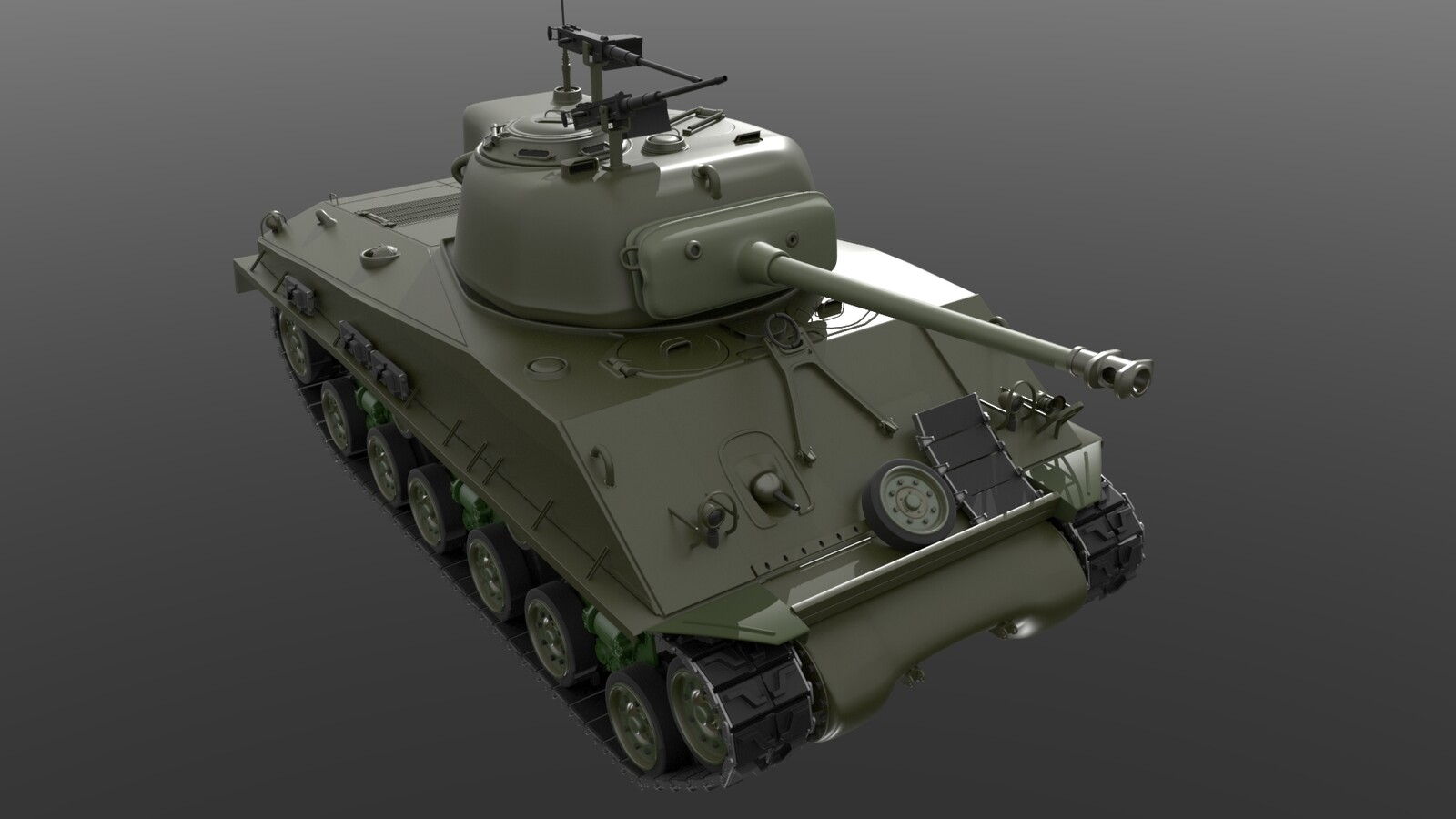 Sherman Tank Mesh