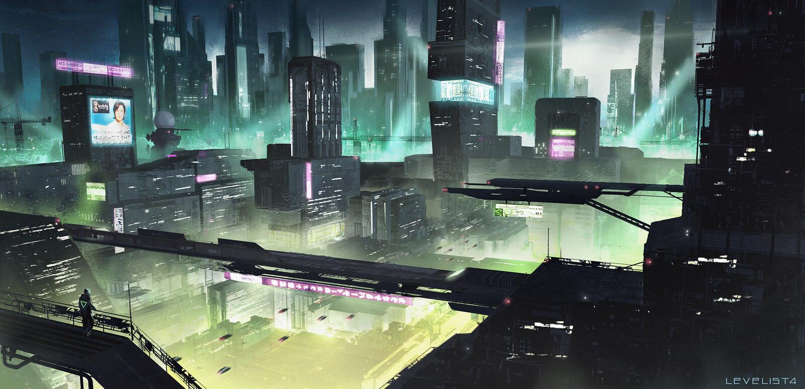 Cyberpunk megacity