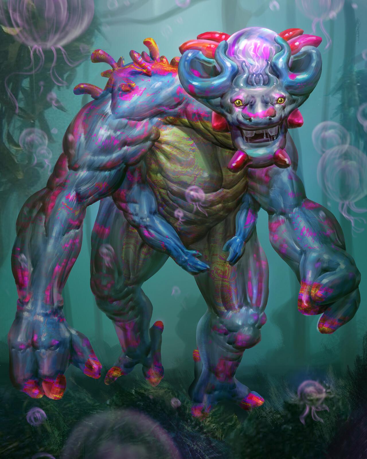 6 Limbs Aquatic Creature