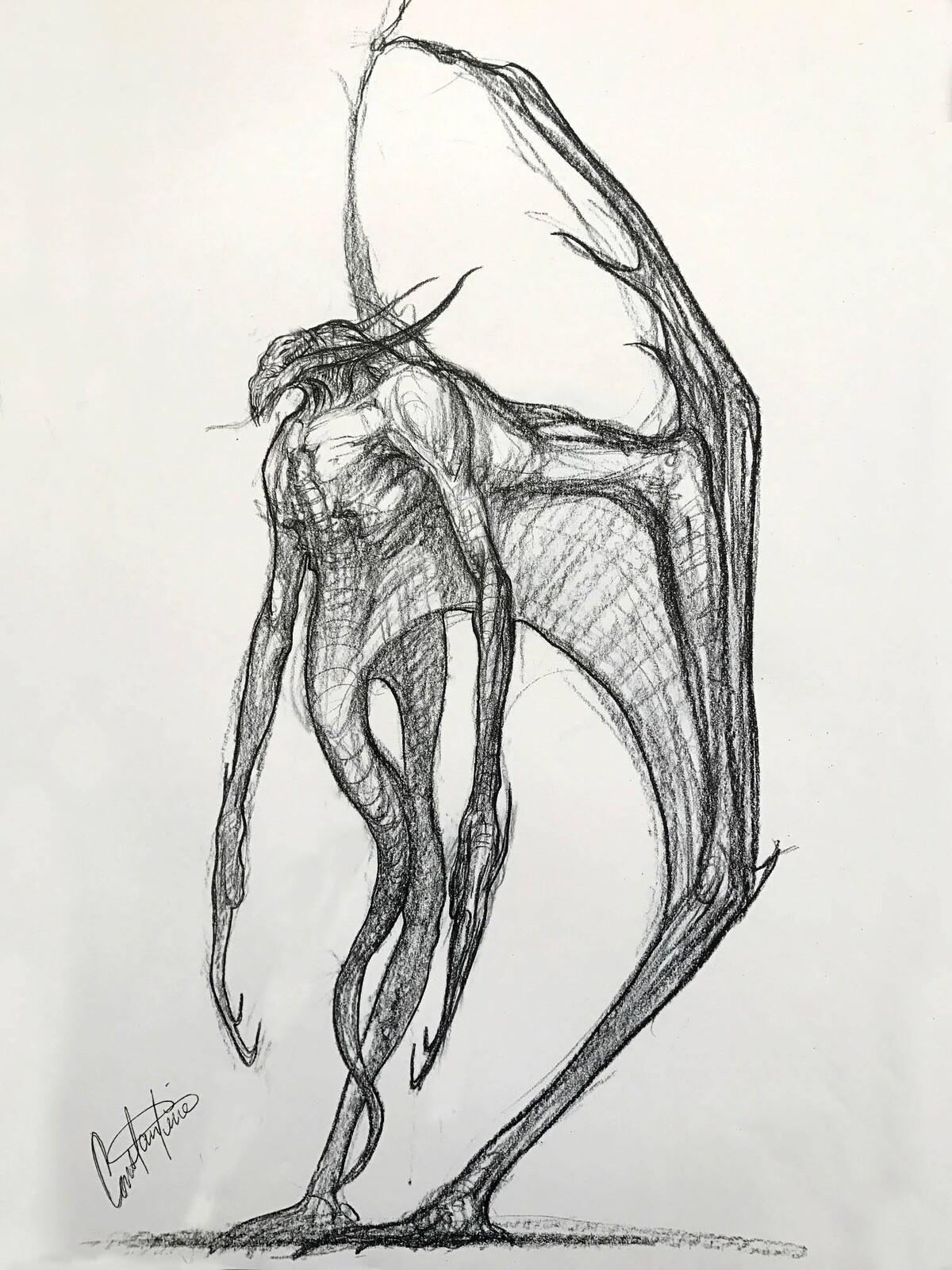 Old demon/bat creature design (cancelled project) 2002
