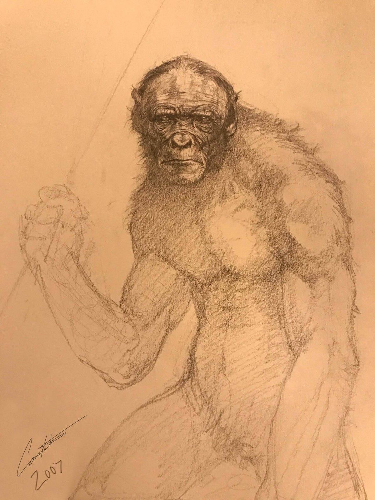 Ape man design for cancelled project