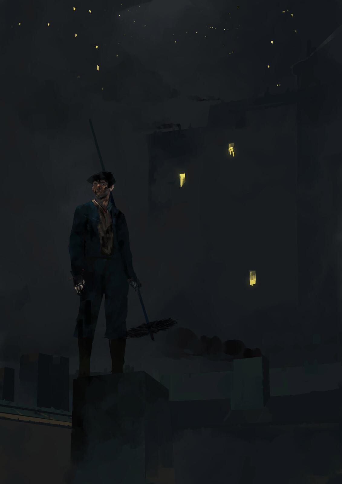 Inktober2019 - Day 26 - Dark