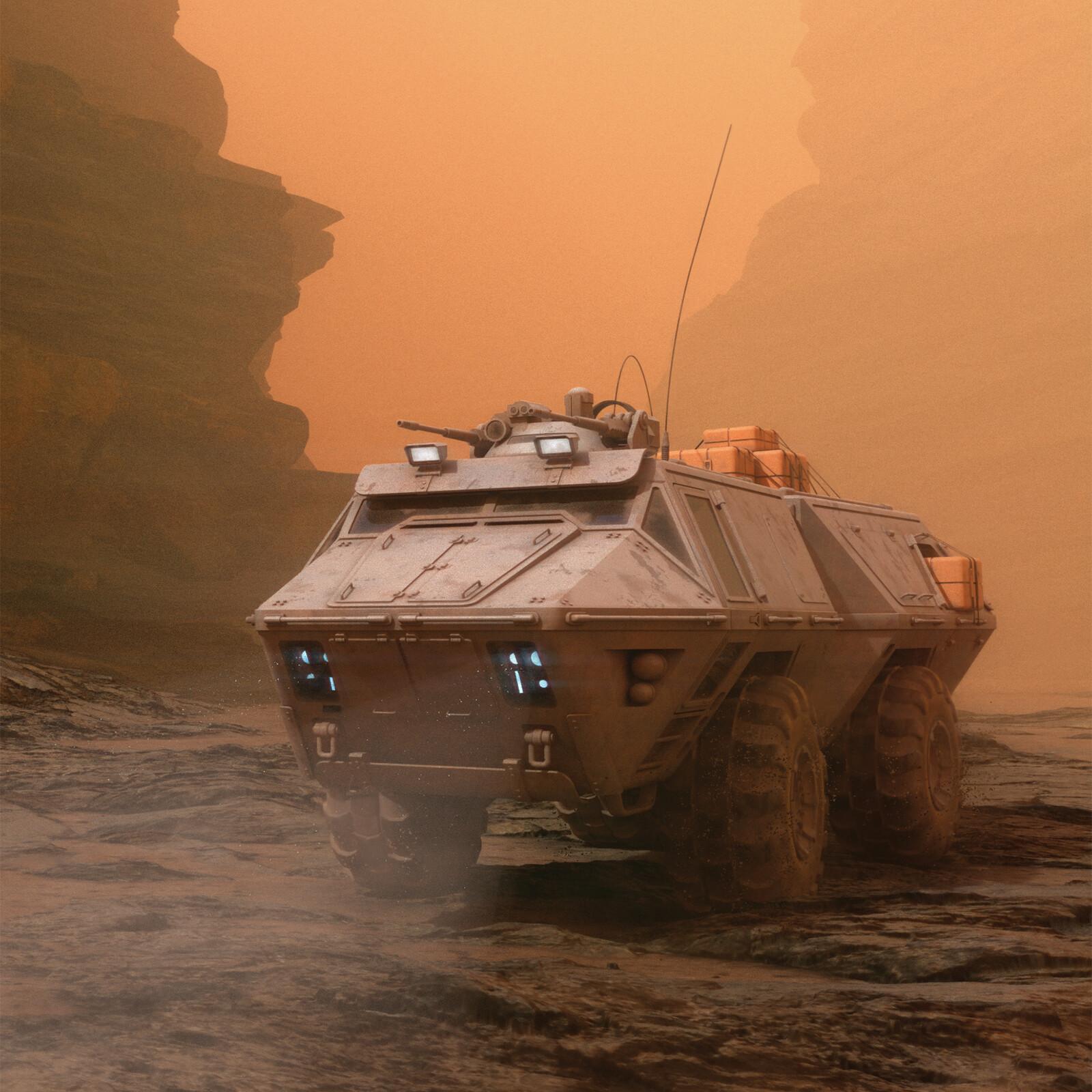 Mars Rover close-up