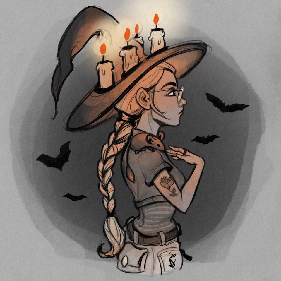 Candle Girl | Witchtober 2020