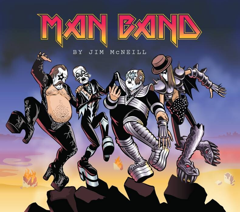 Homage Cover for my webcomic, MAN BAND