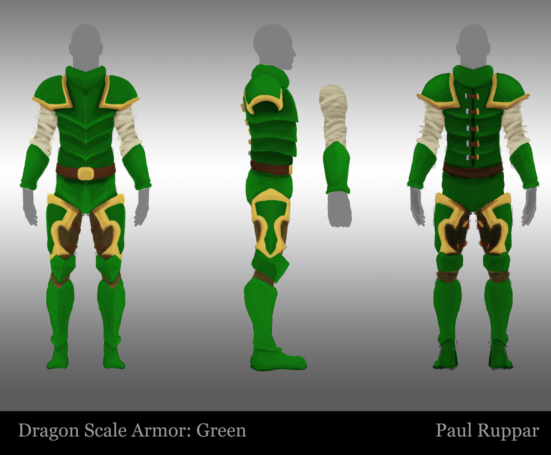 Green Dragon Armor – It consists of a dragon mask, dragon breastplate and dragon greaves.