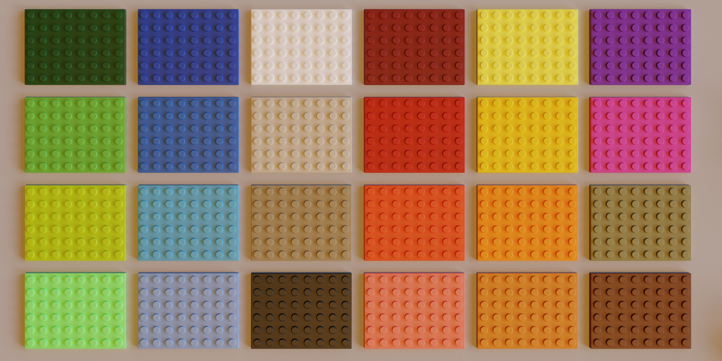 Lego Bricks Collection Colors