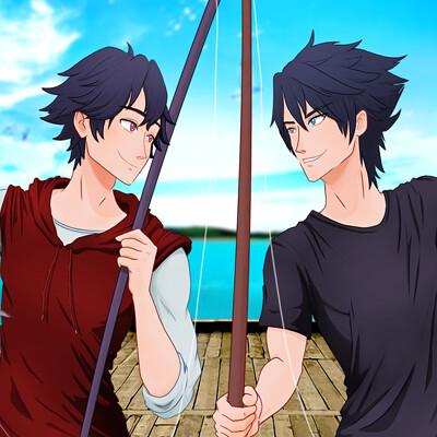 Andie c ayotte rean noctis fishing boys