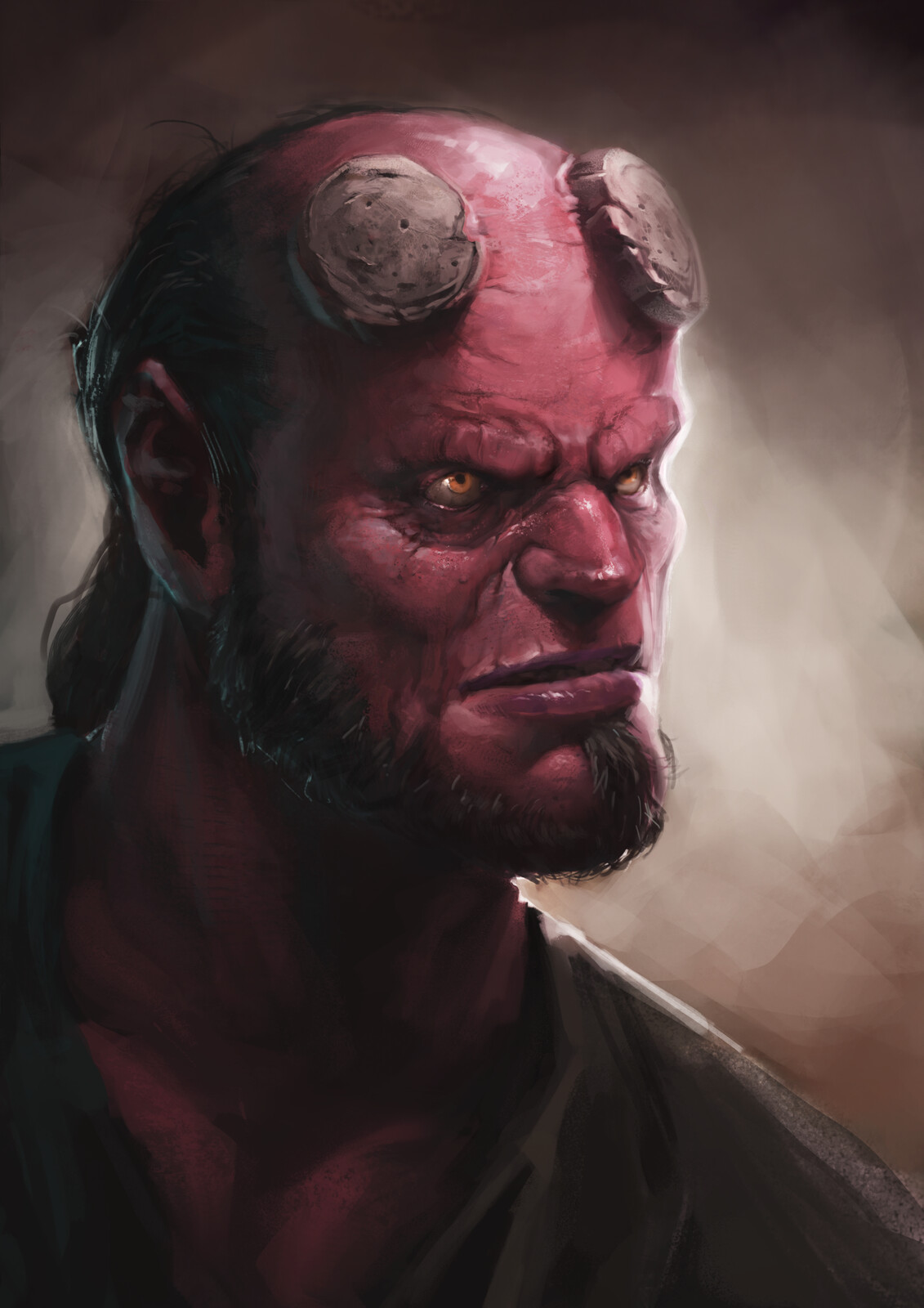 Old man Hellboy