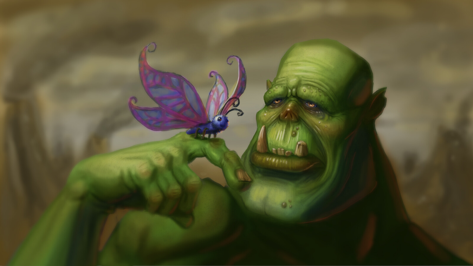 Orc and Butterfly