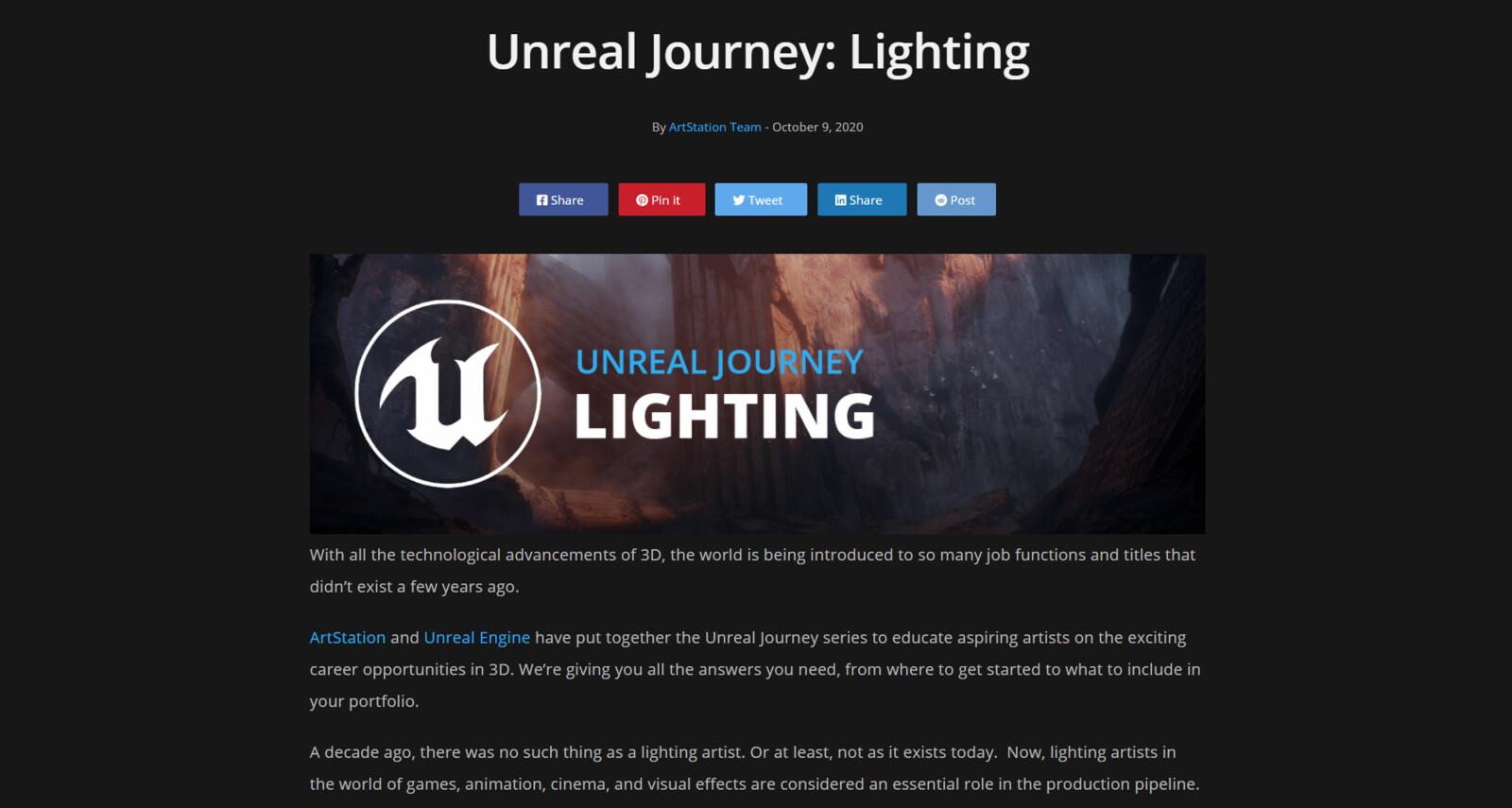 https://magazine.artstation.com/2020/10/unreal-journey-lighting/
