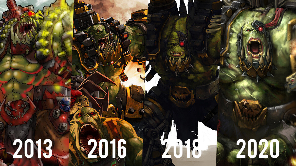 Character over the years