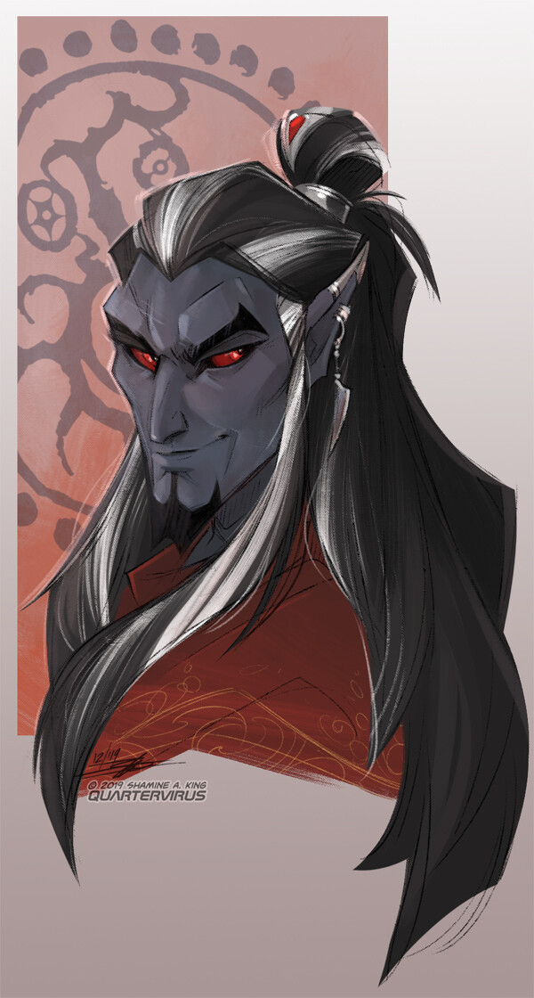 I've been coerced into making Adana a silver fox so I guess the grey streaks are staying now