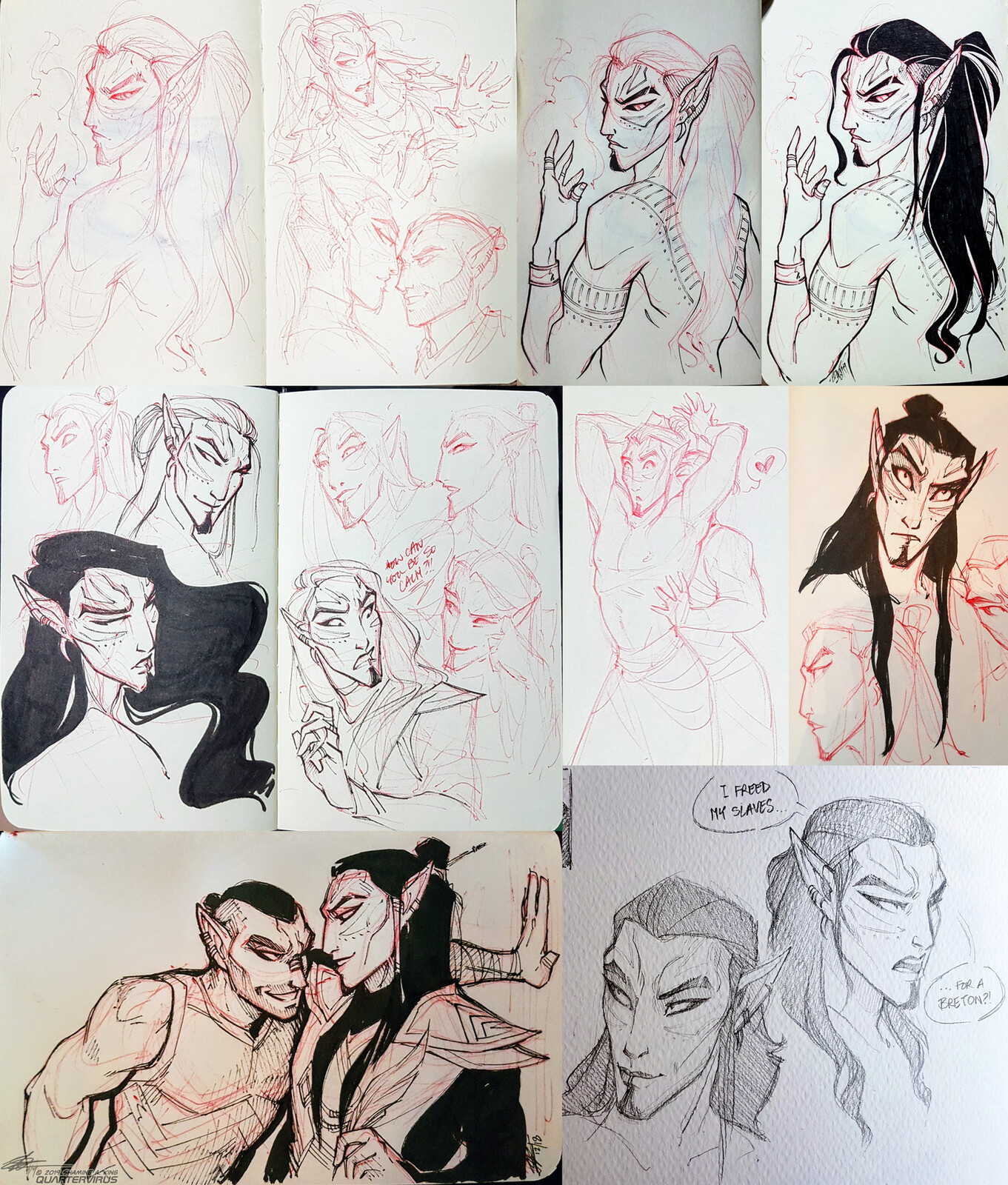 Older sketches from the beginning of the year 2019