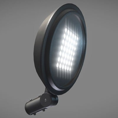 Dennis haupt 3dhaupt street light low poly version modeled textured and animated by 3dhaupt in blender 2 90 1 9