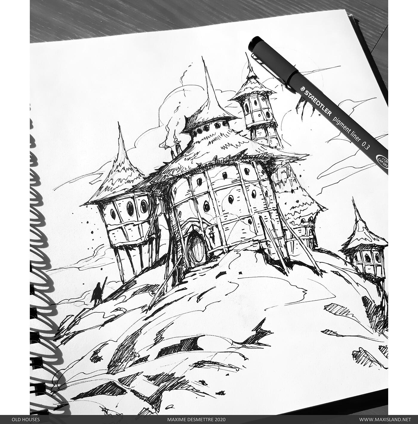 Initial pen sketch
