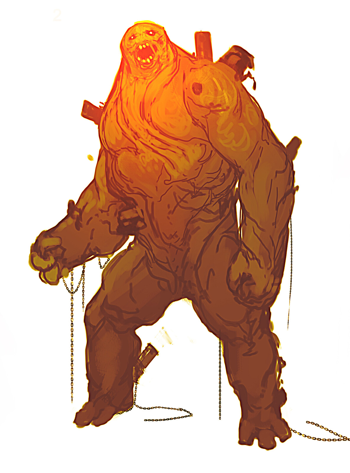 Spiderman Far from Home: Molten Man Design Sketches