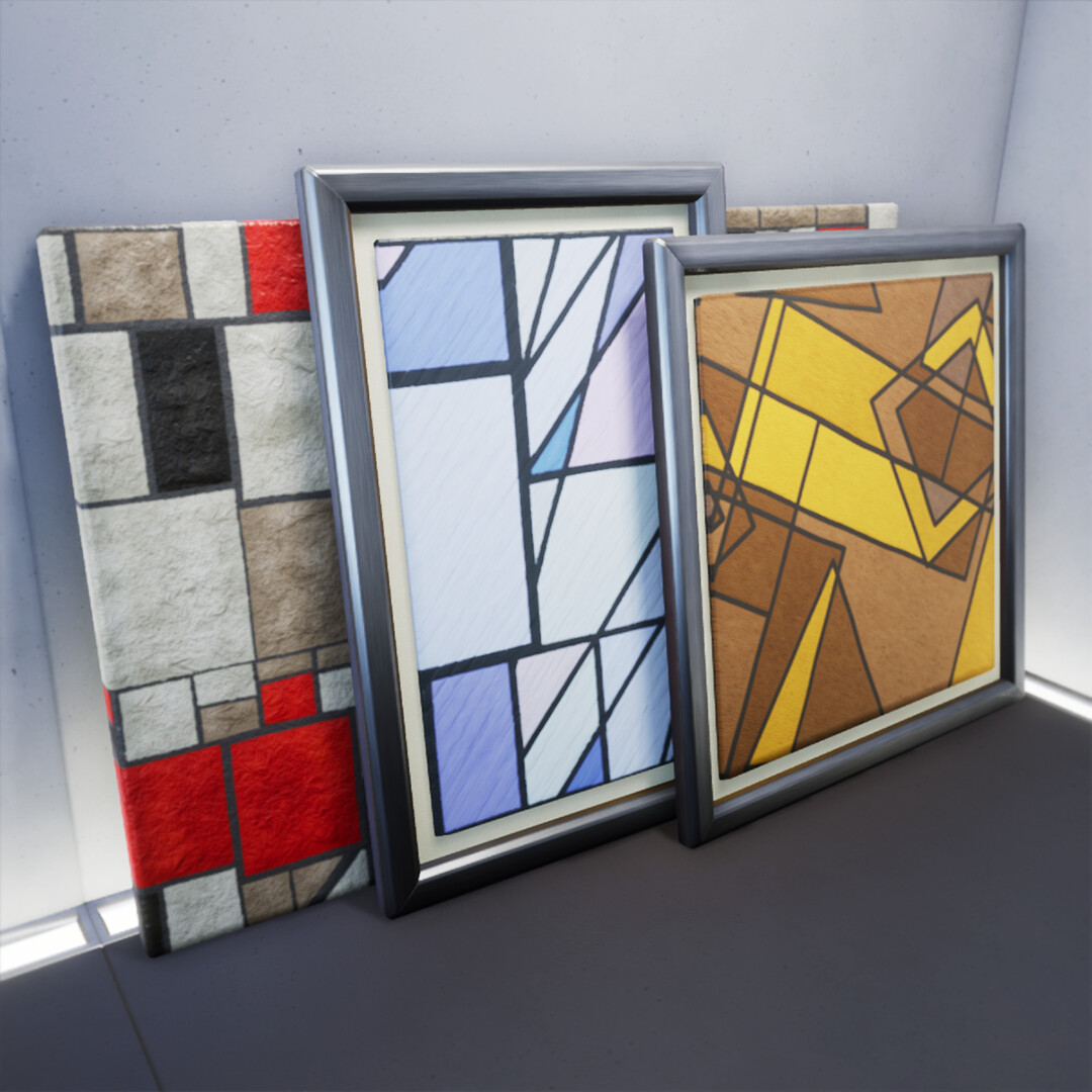 Some Geometric Painting variations in Unreal