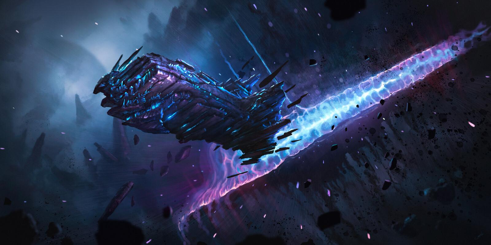 Ice Stone Starship