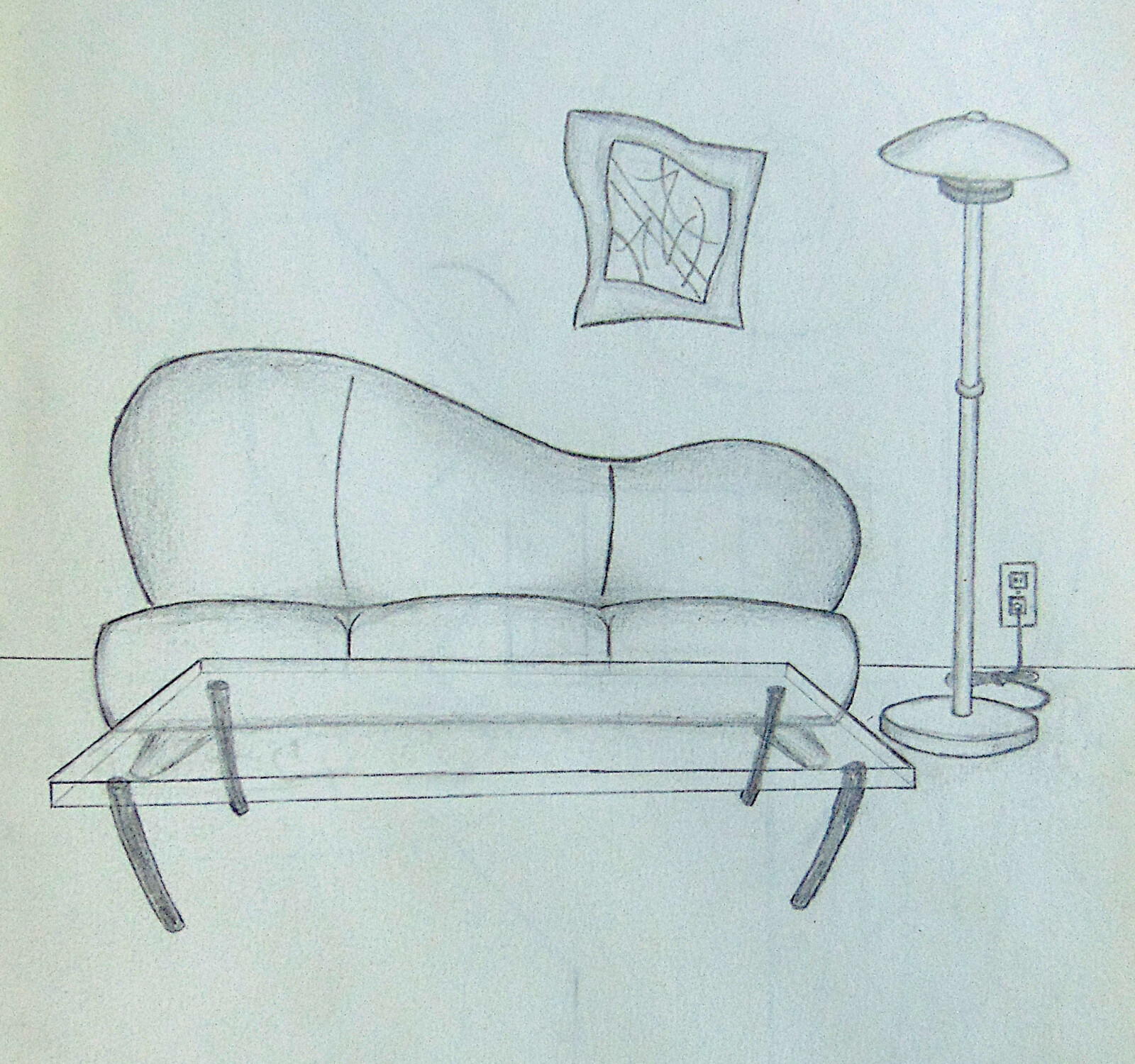 Drew this around age 15 thinking about how cool it would be living on my own one day.