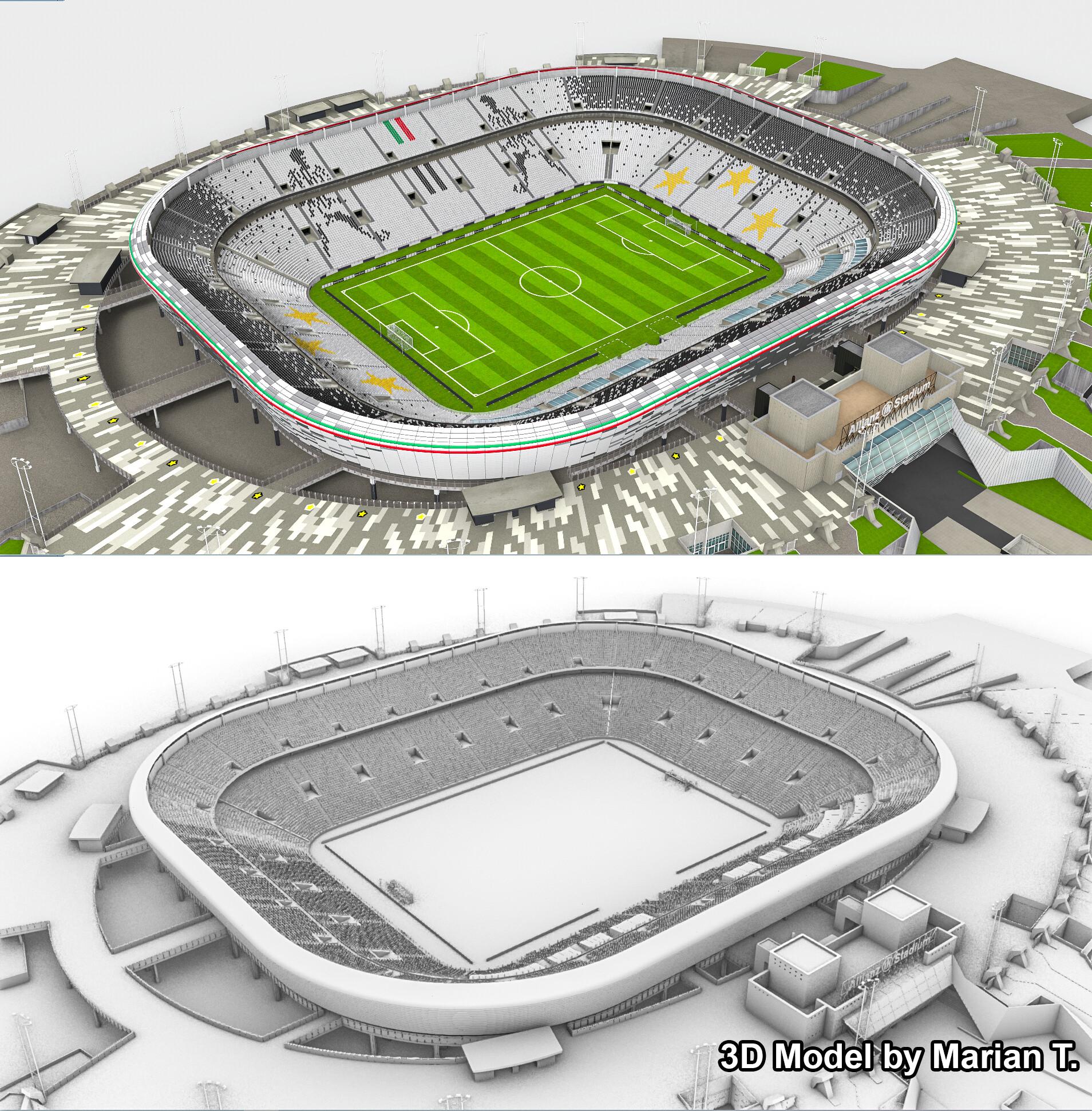 Marian T Allianz Stadium Juventus 3d Model