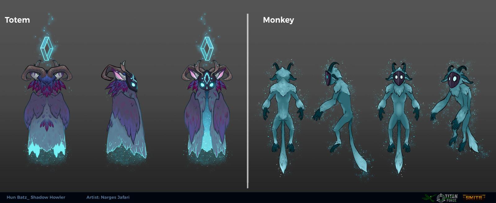 Totem and Monkey ortho