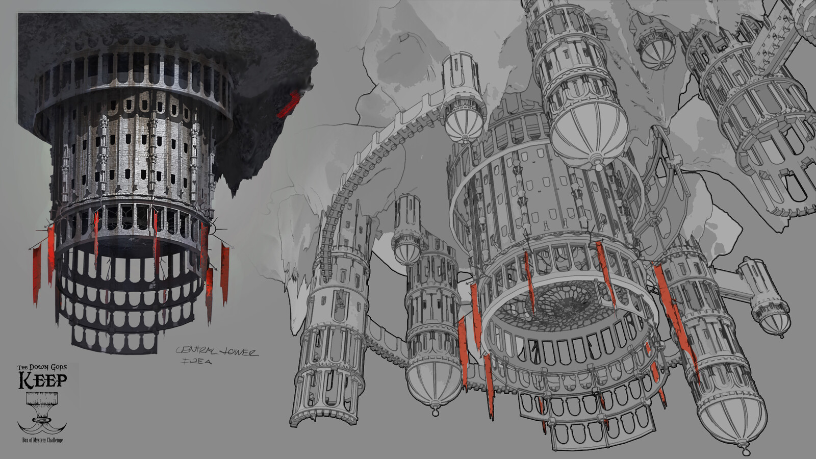 Composition sketches and callouts