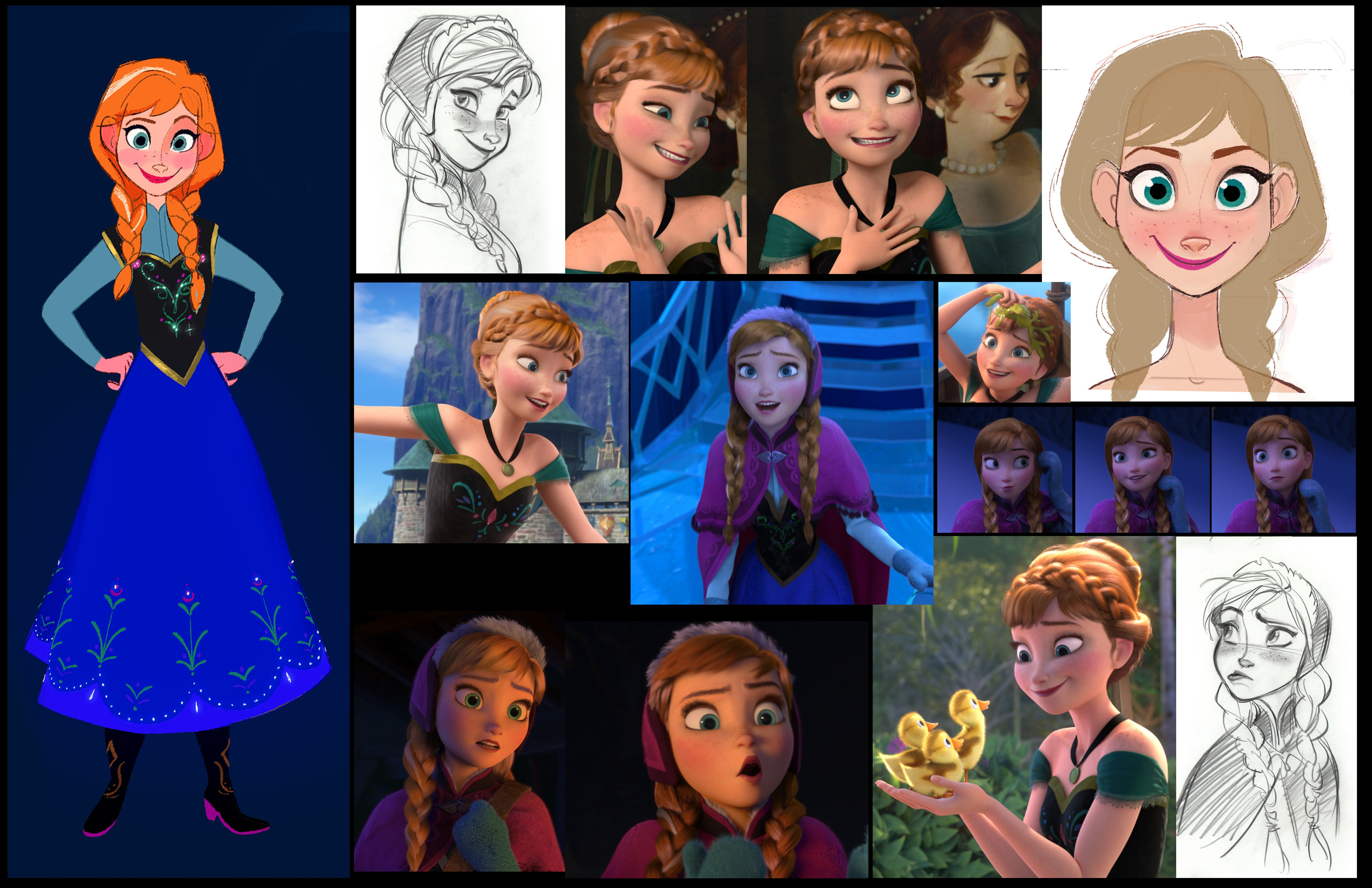 Character Design by Ami Thomson + Frozen references and Jin Kim drawings.