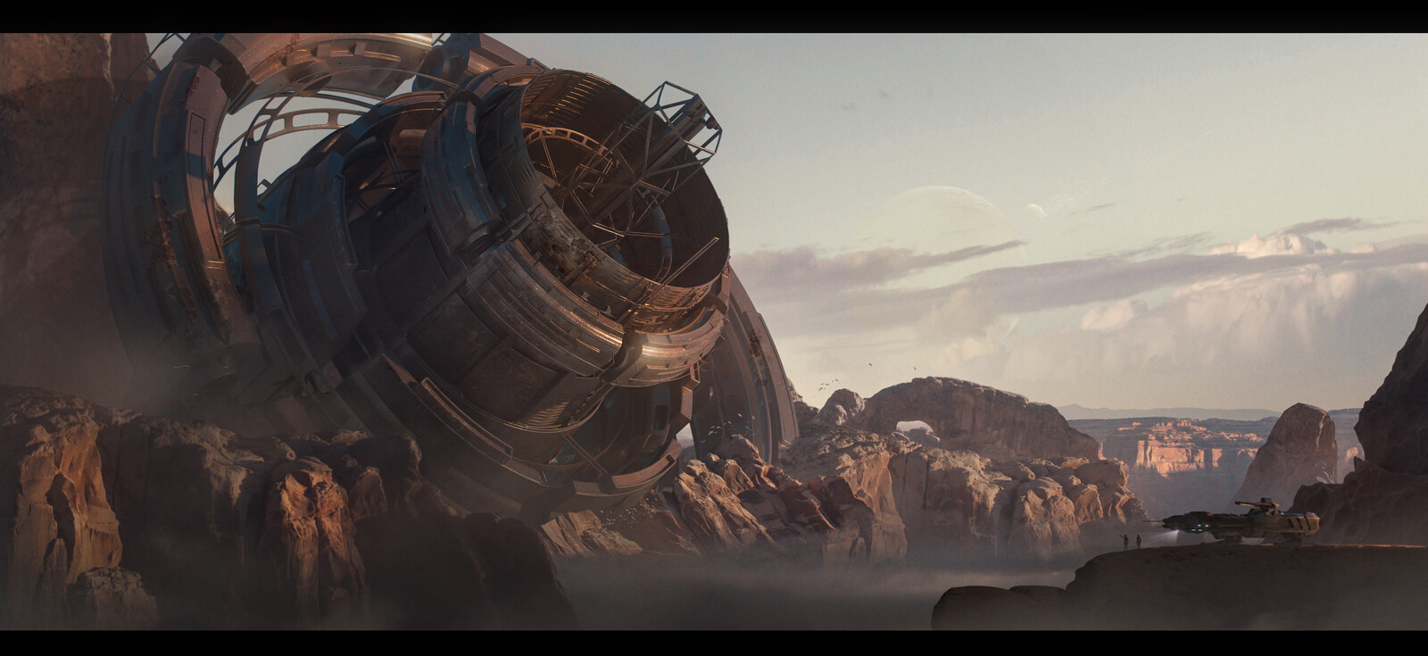 Ancient sci fi structure