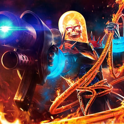 Charles chen ge mcoc cr cosmicghostrider wallpaper fin