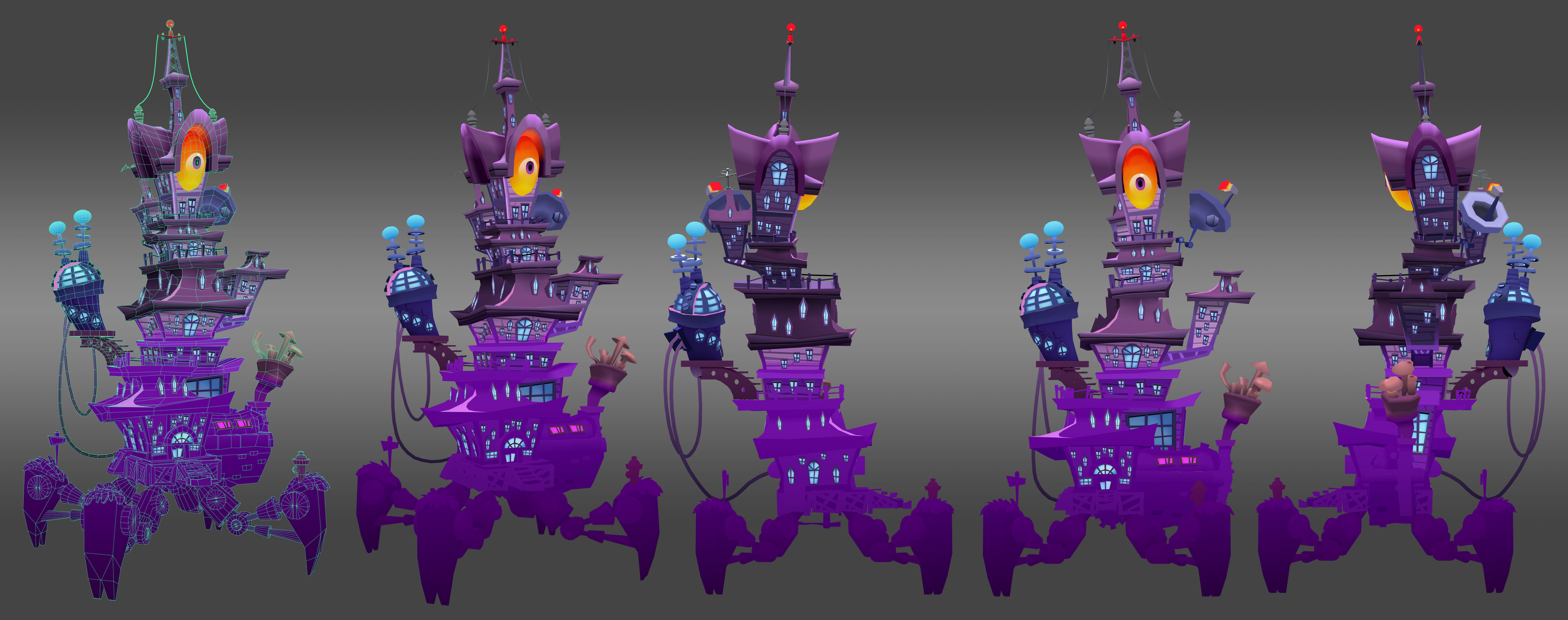 Zomboss Tower: Game asset - retreat colors