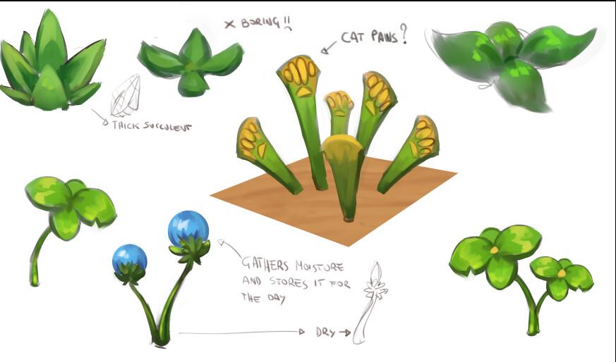 Plant concept sketches