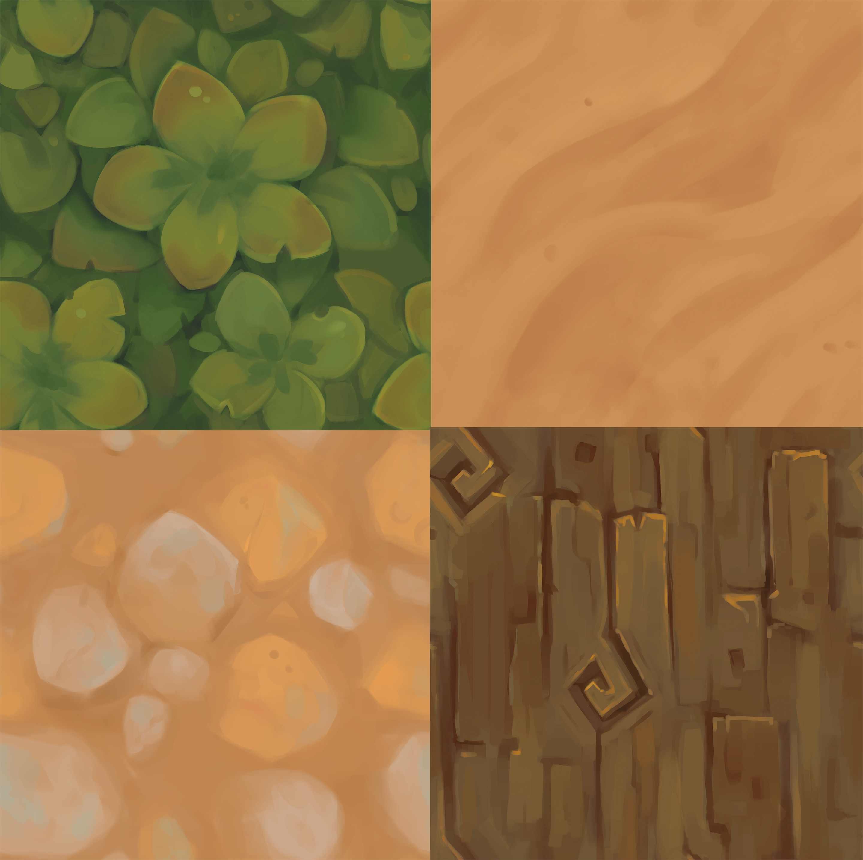 First batch of handpainted textures