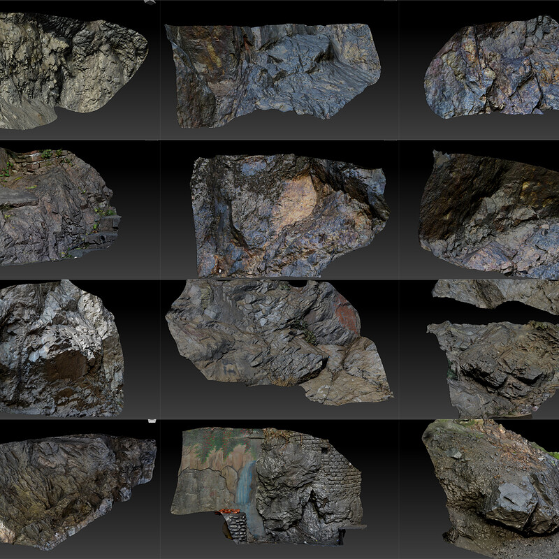 12 Free  Scanned Photogrammetry Assets