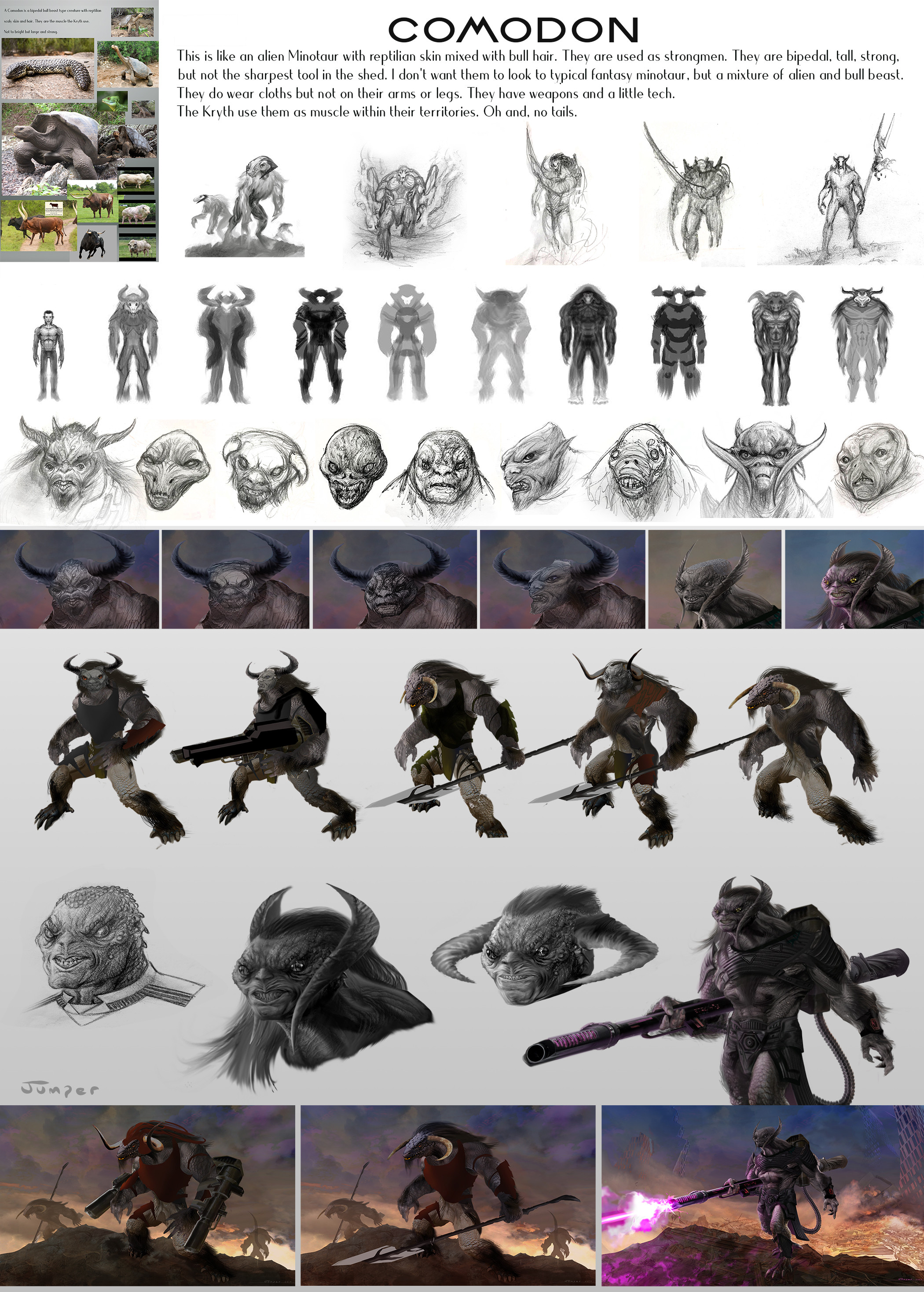 Comodon concepts and ideas.