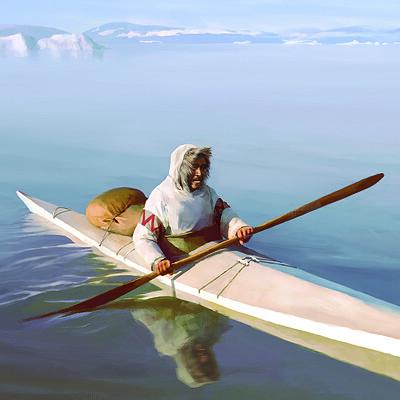 Rocio espin pinar toru and his kayak