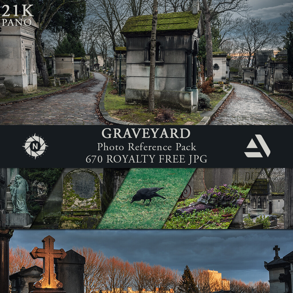 Photo Reference Pack: Graveyard  https://www.artstation.com/a/165913
