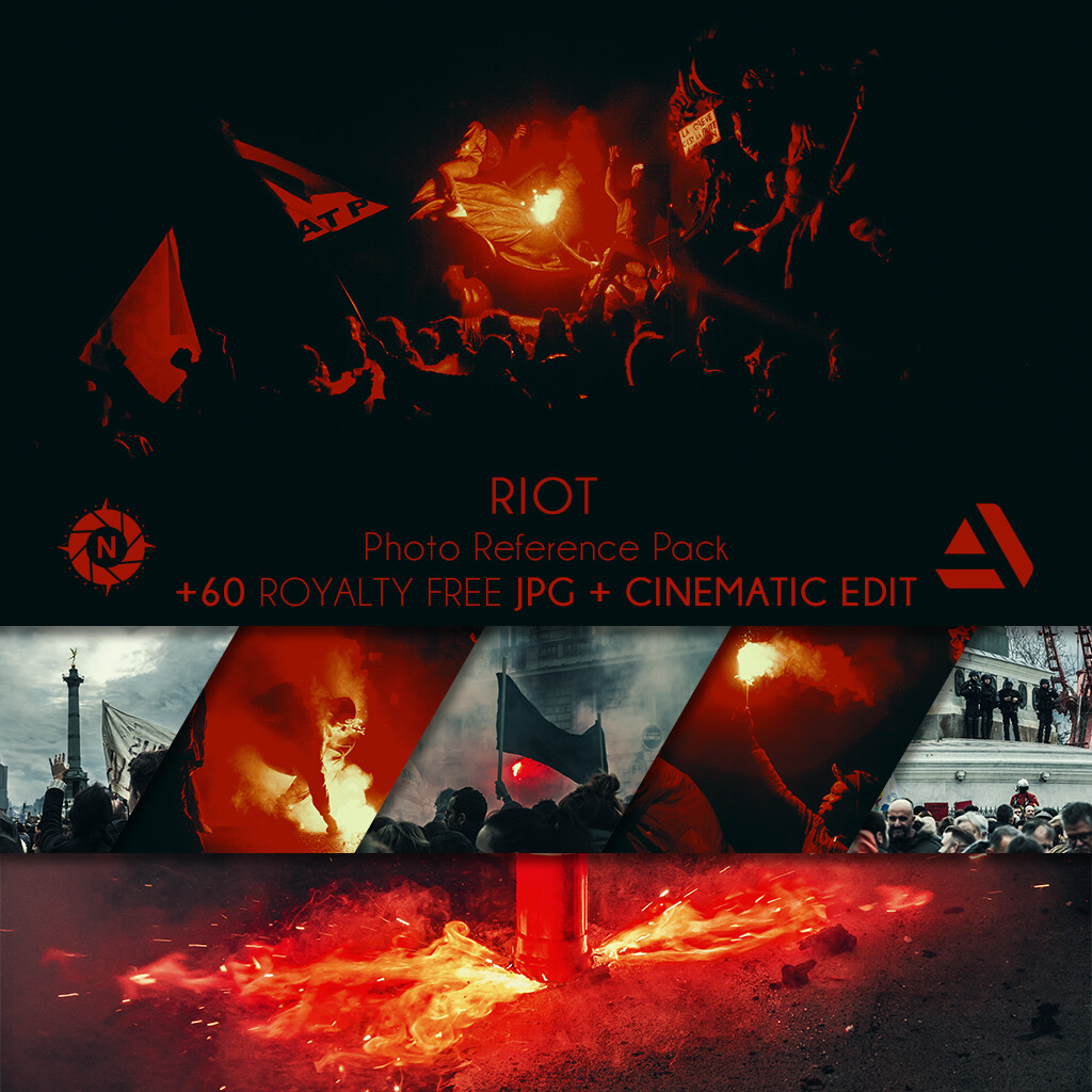 Photo Reference Pack: RIOT  https://www.artstation.com/a/165911